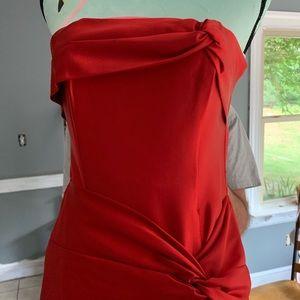 Red Formal Strapless Dress Jessica McClintock